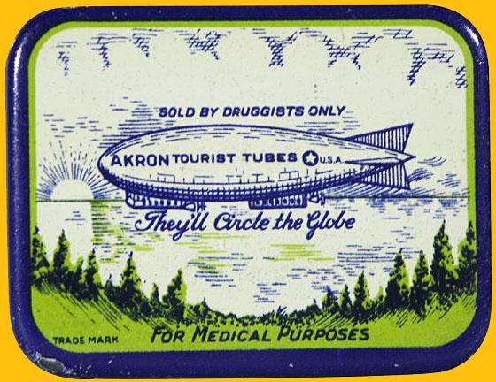 """Vintage """"Akron Tourist Tubes"""" Tin"""