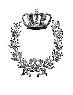 Crown and laurel