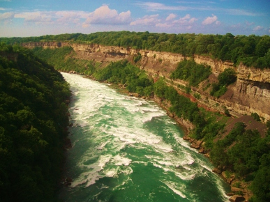 View of the Niagara River from the train