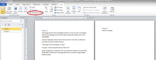 Word formatting 2