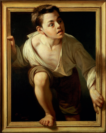 """Escaping Criticism"" Pere Borrell del Caso, 1874"