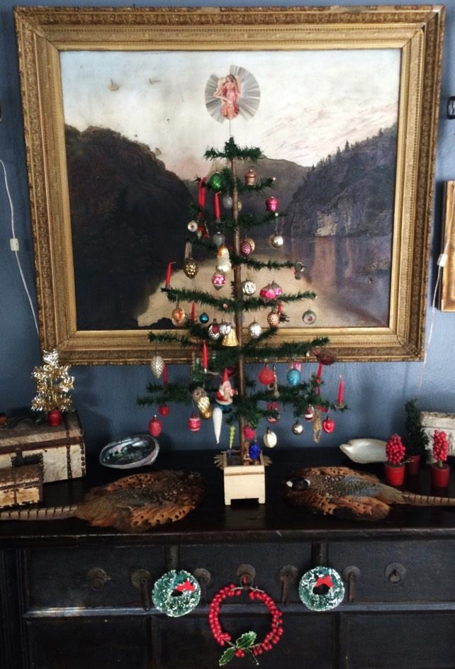 "One of our antique ""feather trees"""