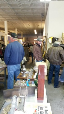 Auction Day - Folks looking for goodies (like we've done 100x before)